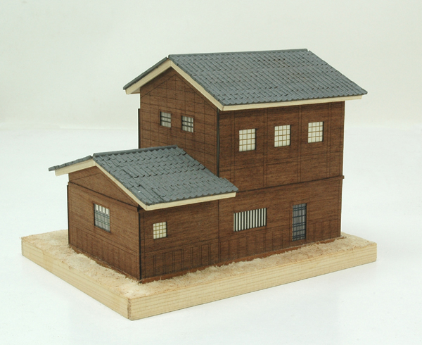 空间木头结构建筑物模型图